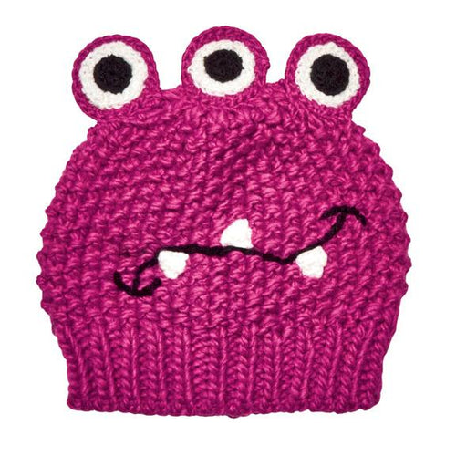 2-4Y Kid's 3-Eyed Monster Beanie