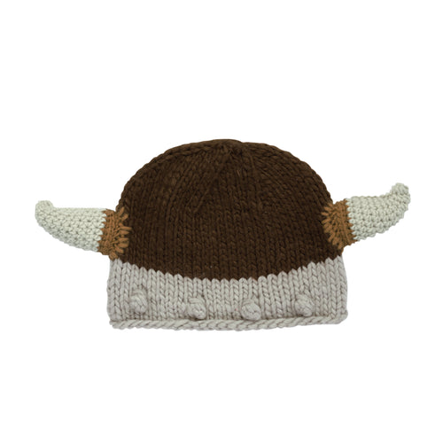 5-7 Year Old Kids Knit Viking Hat (KNK3262)
