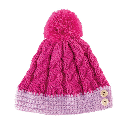YOUTH CABLE KNIT BEANIE (KNK3415)
