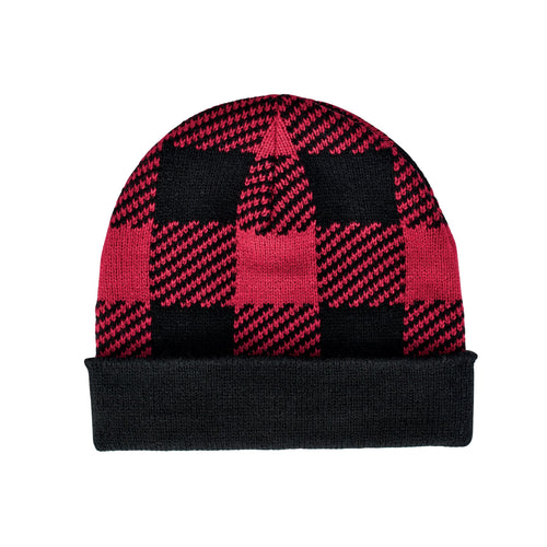 Kids' Cuffed Plaid Beanie (KNK3470)
