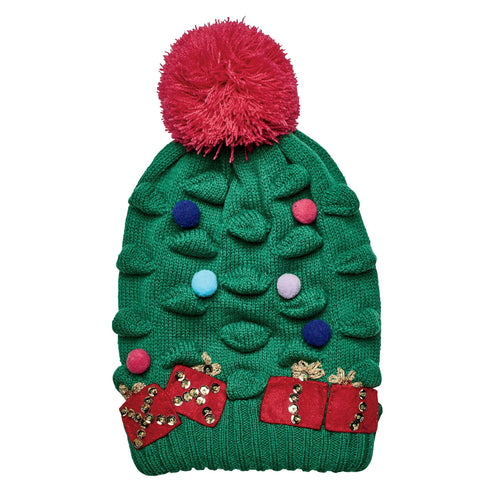 Christmas Tree Knit Beanie (KNK3518)