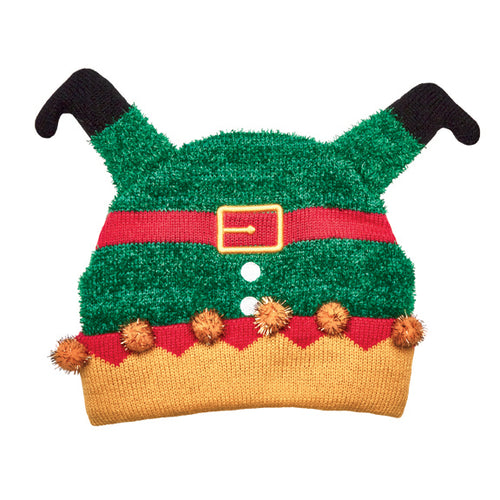 KIDS KNIT UPSIDE DOWN ELF BEANIE (KNK3620)