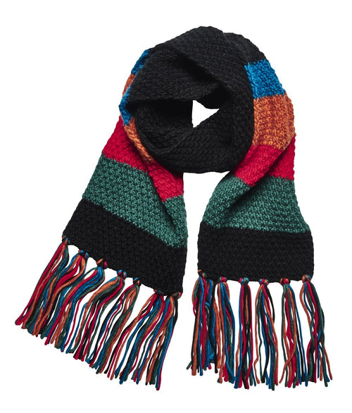Women's Striped Scarf w/ Fringe (KNS5001)