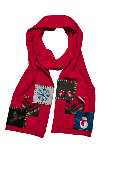 WOMEN'S HOLIDAY PATCH SCARF (KNS5004)
