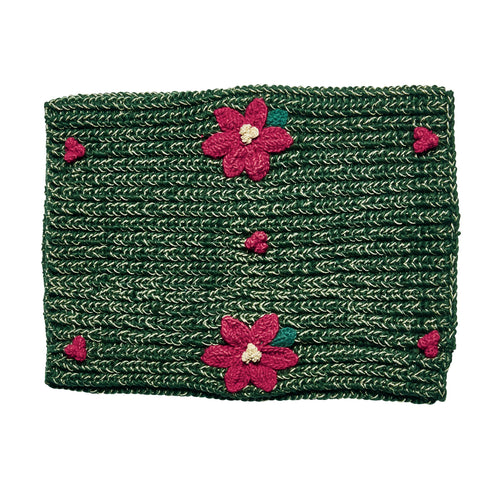 WOMEN'S POINSETTIA WREATH SCARF (KNS5005)