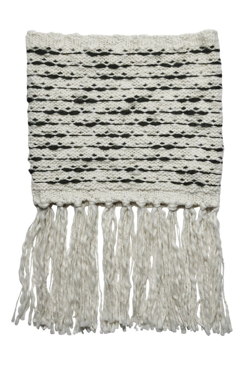 Women's stripe scarf with fringe (KNS5010)