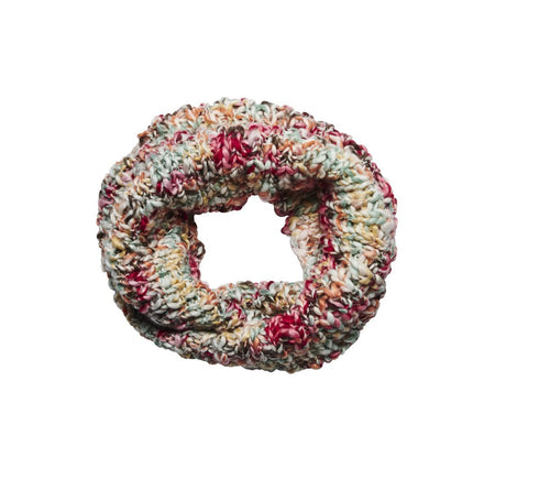 Women's multi color yarn scarf (KNS5012)