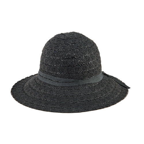 Women's Lace Sun Hat w/ Tie (MXM1035)