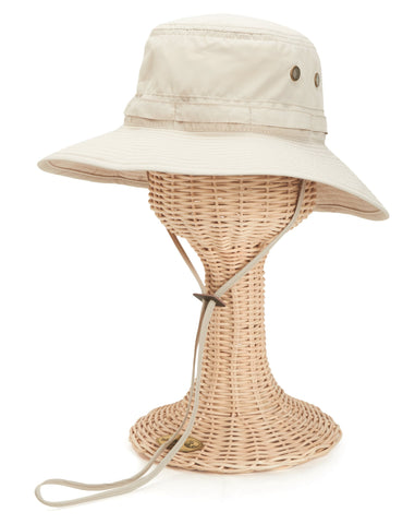 Mens washed cotton bucket with side grommets (CTH3560)