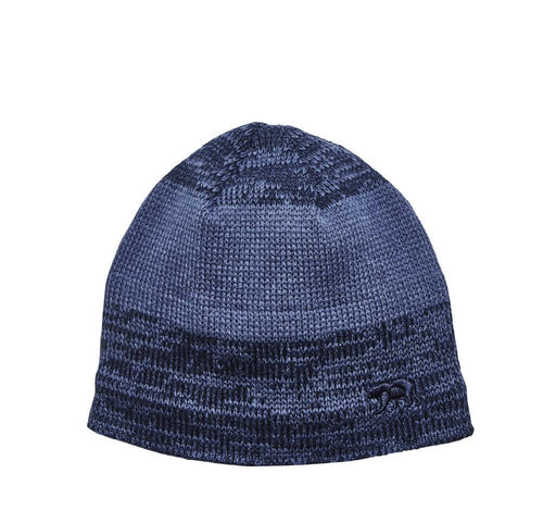 MEN'S SKULL BEANIE W/ MARLED STRIPES & FLEECE (OCM4712)