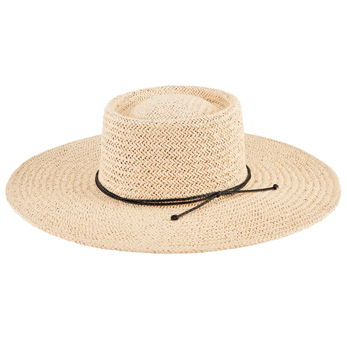 Women's Woven Paper Boater w/ Braided Band (PBL3210)