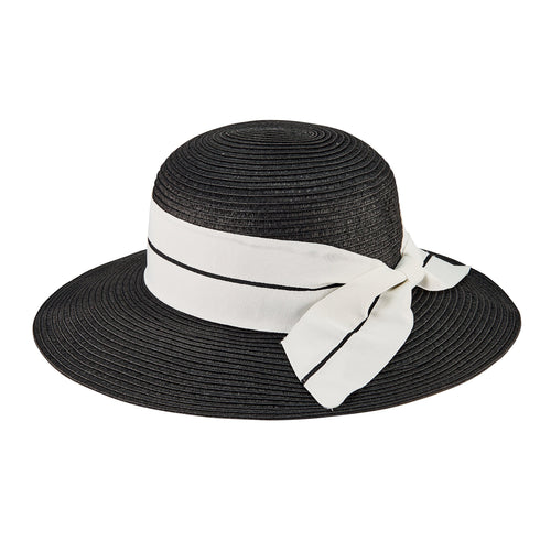 Women's Sun Hat W/ Oversized Stripe Bow (PBM3023)