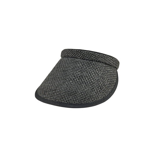 Women's Woven Paper Clip On Visor (PBV019)