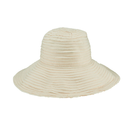 Women's Raw Edge Ribbon Sun Hat