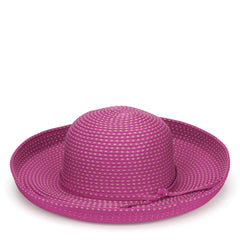 Womens Ribbon Kettle Brim Hat (RBM4784)