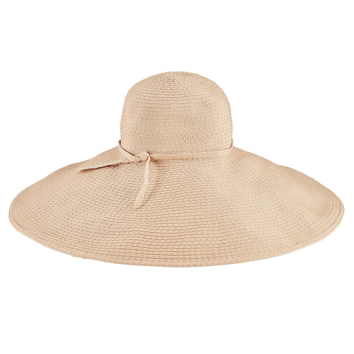 Women's Wide Brim Ribbon Floppy W/ Ticking (RBXL205)