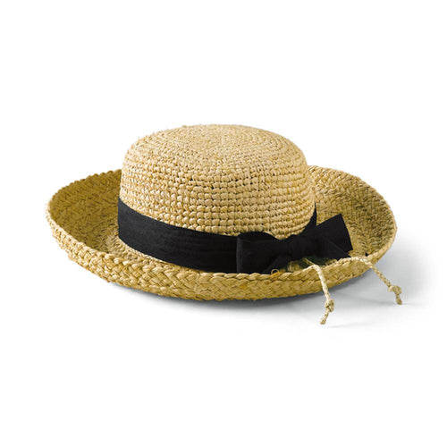 Kids' Raffia Hat With Ribbon (RHL9)