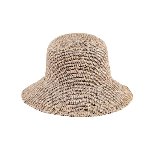 Women's Crochet Raffia Bucket (RHS3108)
