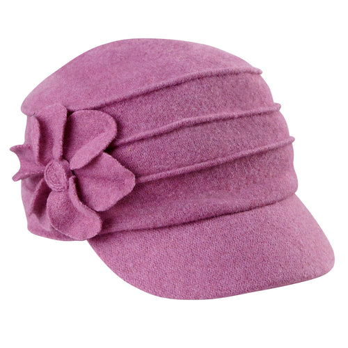 Womens Wool Cadet With Flower