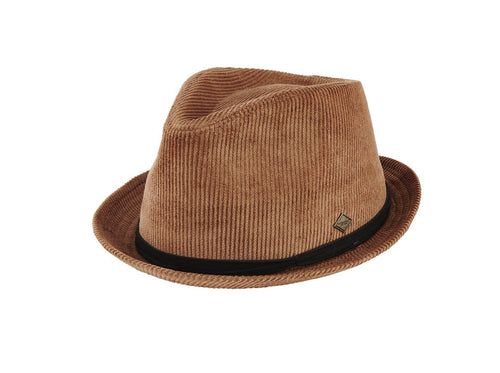 Men's Corduroy Pork Pie Fedora (SDH3328)