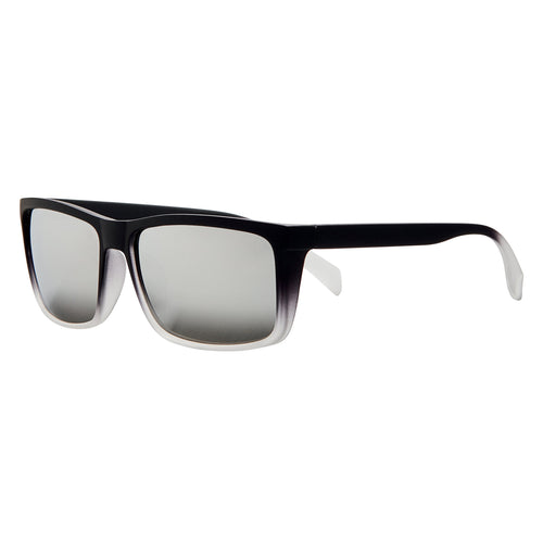 Mens Ombre Rubberized Flat Top Frame W/ Silver Mirror Lens (SWG0112)