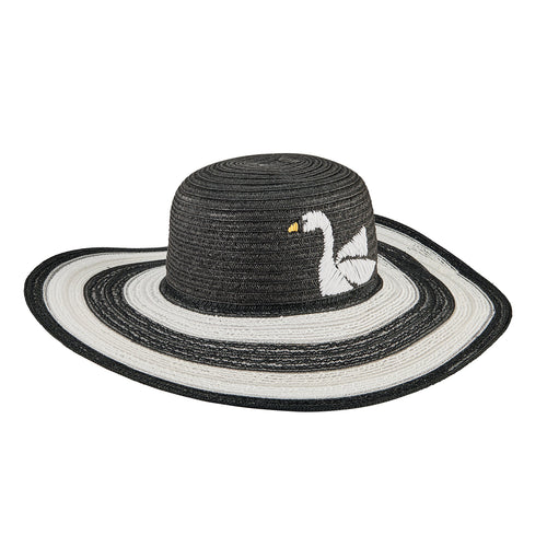 Women's Embroidered Swan Sun Hat (UBL6830)