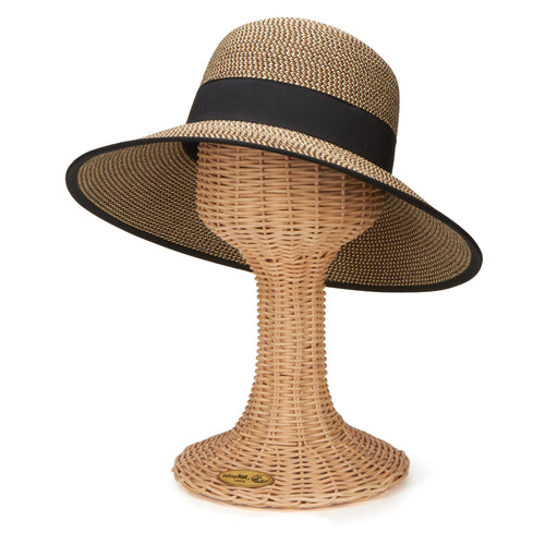 Women's Ultrabraid Sun Brim With Back Bow And Contrast Edging (UBM4446)