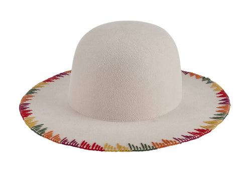 Women's wool felt floppy with stitched brim (WFH8212)