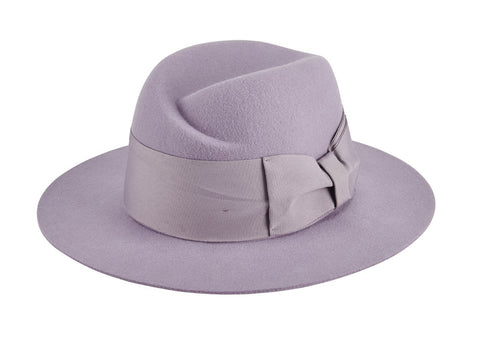 Women's wool felt fedora with off center pinch (WFH8213)
