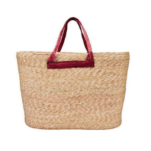 WOMENS WHEAT STRAW CARRY ALL BAG (BSB1732)