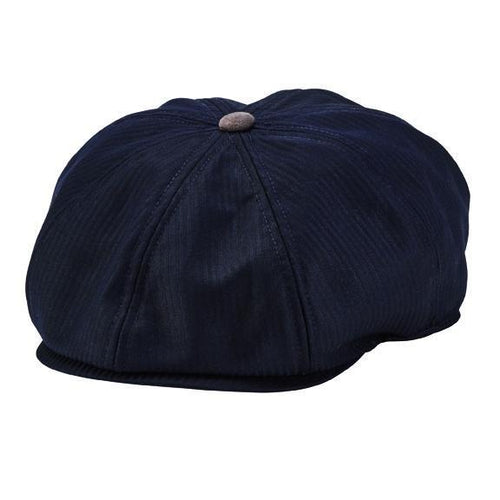8-panel baker boy hat with novelty print lining, faux suede button and underbrim (SDH3313)