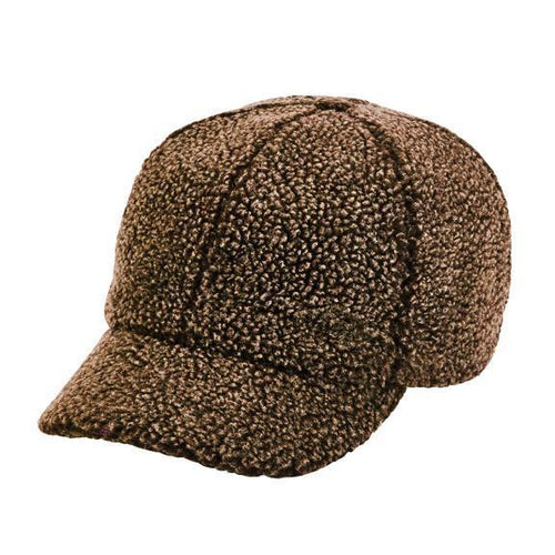 Washed faux sherpa ball cap (CTH8142)