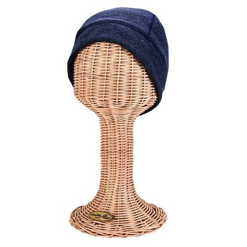 Water resistant heathered beanie with micro fleece lining