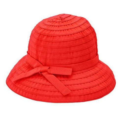 BUCKET - Women's Ribbon Bucket With Adjustable Tie