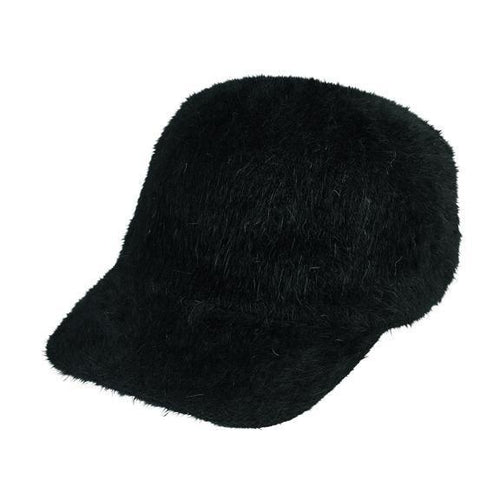 angora knit ball cap