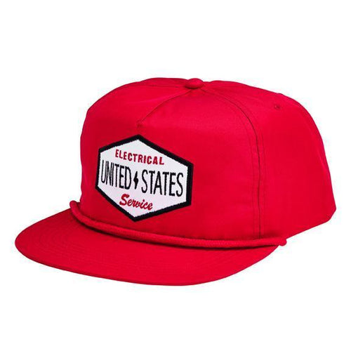 "CAP - FLAT BILL SNAPBACK TWILL CAP W/ ""ELECTRICAL U.S. SERVICE"" PATCH"