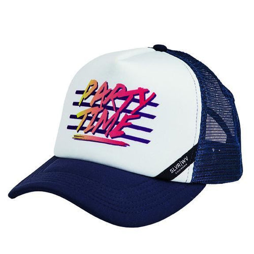 "CAP - SUBLIMATED ""PARTY TIME"" TRUCKER SNAPBACK CAP"