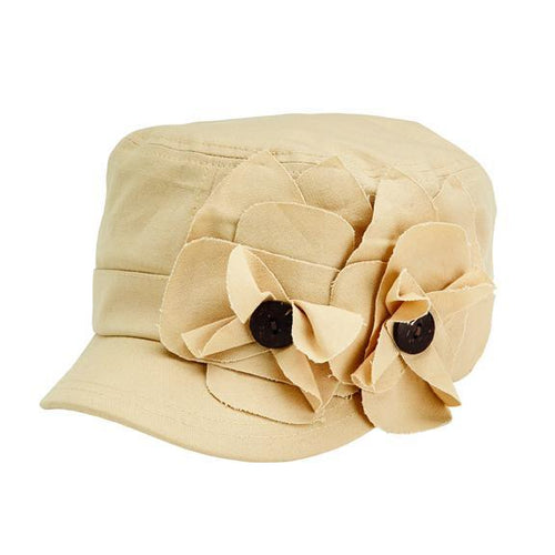 CAP - Women's Twill Cadet Cap With Flower