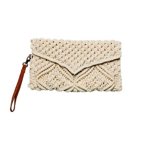 WOMENS MACRAME CLUTCH (BSB1754)