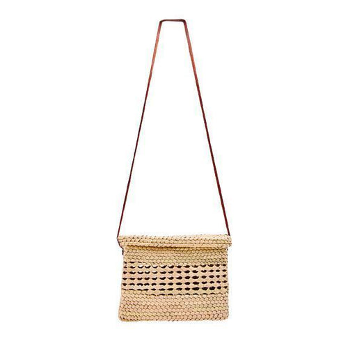 WOMENS CROCHET PALM STRAW CROSSBODY (BSB1750)