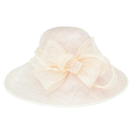 DRESS - Women's Round Crown Sinamay Dress Hat With Band And Multi Layer Bow