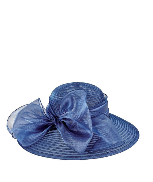 DRESS - Womens Poly Dress Hat W/ Oversized Bow