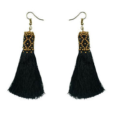 Fringe earring with beading detail (BSJ3502)