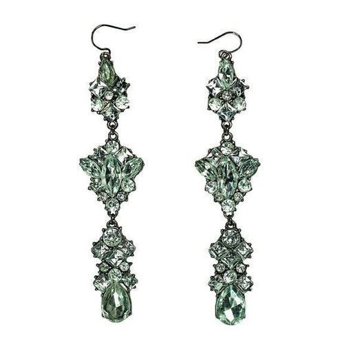 Rhinestone cluster drop earrings (BSJ3509)