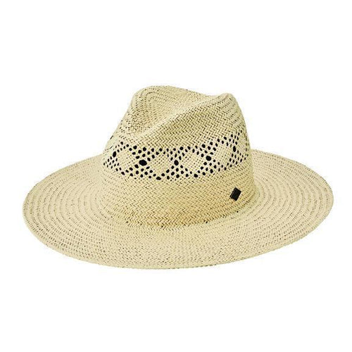 Mens Detailed Inset Paper Fedora (SDH3317)