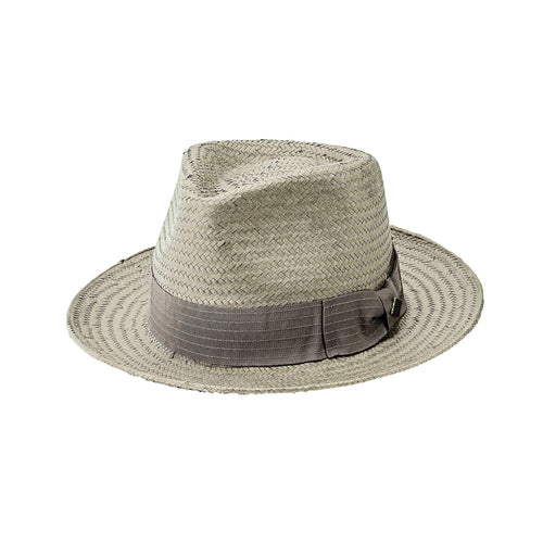 Mens Detailed Inset Paper Fedora (SDH3318)