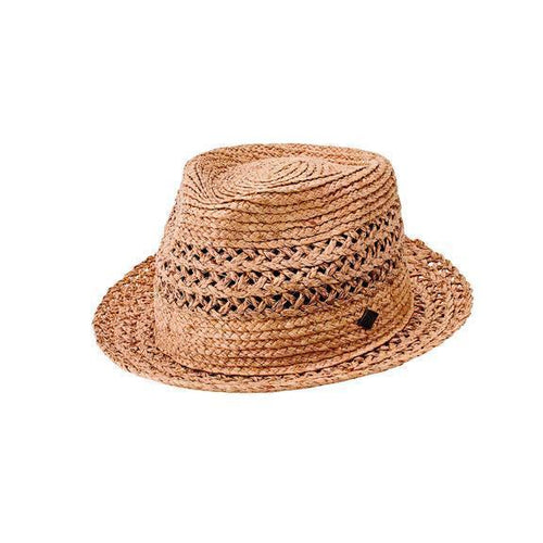 Mens Detailed Inset Paper Fedora (SDH3320)