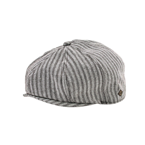 Mens Linen Blend Stripe Baker Boy (SDH3326)