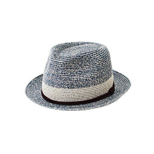 MENS PACKABLE FEDORA WITH FAUX SUEDE BAND (PBF7333)