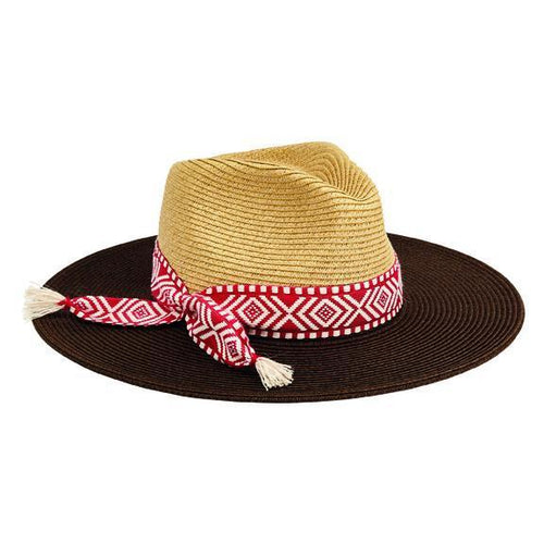 FEDORA - Women's Ultrabraid Colorblock Fedora With Jacquard Band